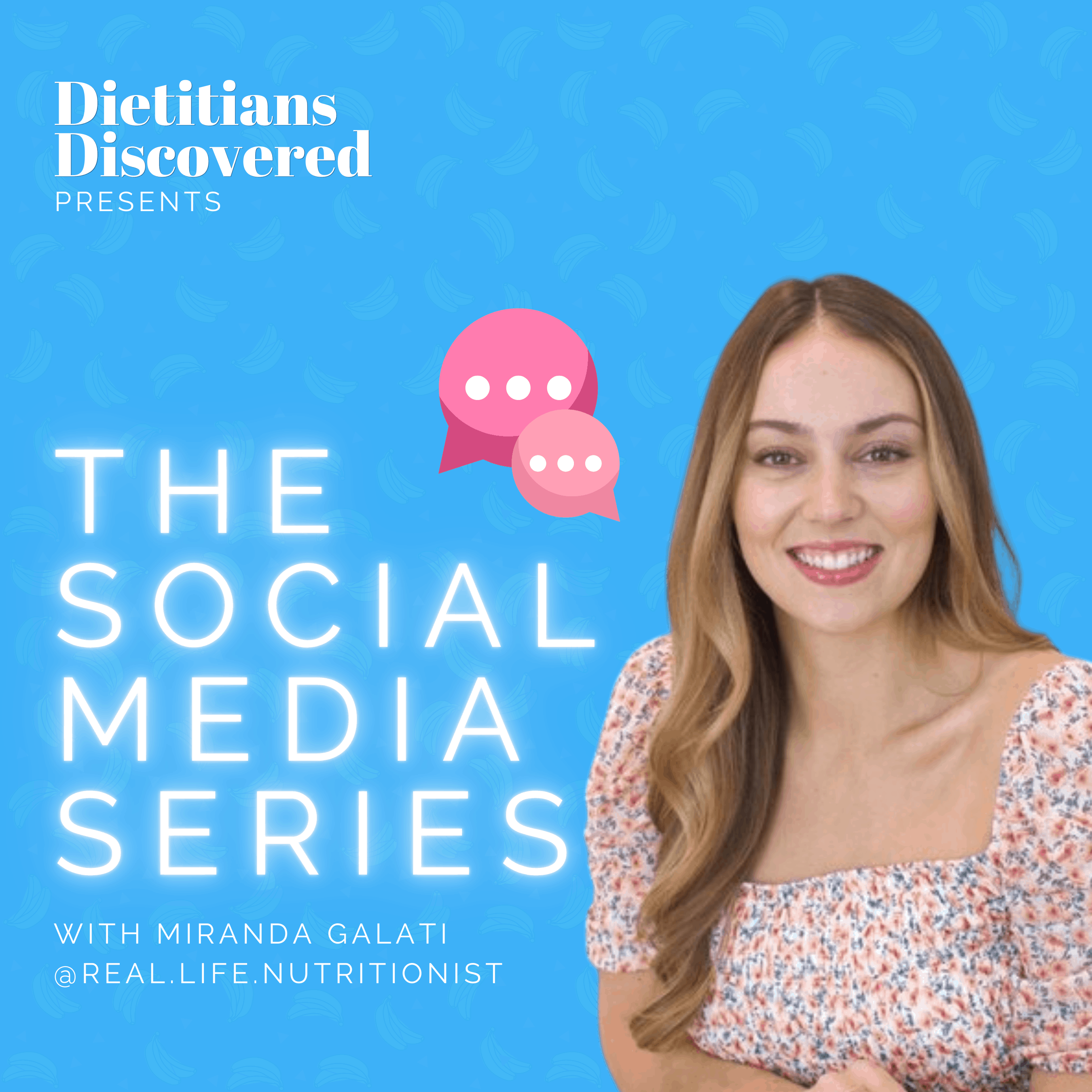 Podcast episode cover art with Miranda Galati about nutrition social media account